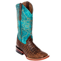 Ferrini Print Belly Brown Cowgirl Boots