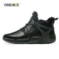 ONEMIX Men Sneakers Warm Waterproof Snow Boots For Women Elastic Soft Outsole Comfortable Walking Shoes