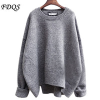 New 2016 Christmas Sweaters Women Fashion Casual Knitted Mujer Blusa Pullovers O-Neck Long Sleeve Solid Color OL Girls Sweater