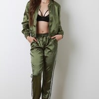 Luxe Satin Track Suit