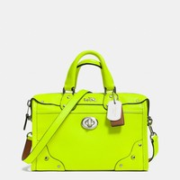 C.O.A.C.H. RHYDER 24 SATCHEL IN PEBBLE LEATHER