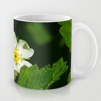 Wild Strawberry Flower Mug by Digital2real