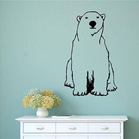 Polar Bear Vinyl Wall Words Decal Sticker Graphic