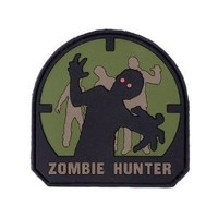 Zombie Hunter IFF PVC Rubber Velcro Patch - 70mm / Forest   AihaZone Store