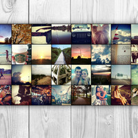 Instagram Collage Poster Print Personalized Dorm Art Wall Decor 32 photos