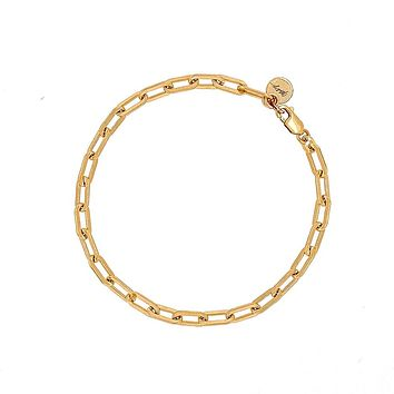 Lia Paperclip Chain Bracelet Gold Filled