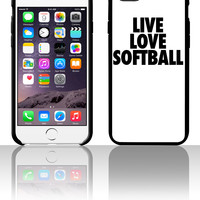 Live Love Softball 5 5s 6 6plus phone cases