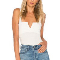Free People Pippa V-Wire Bodysuit in Ivory | REVOLVE