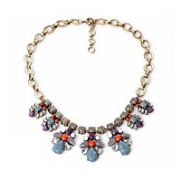 Dash of Red Statement Necklace