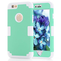 iPhone 6 / iPhone 6S Case, Cafeleo Tough Armor Cover 3 in 1 Layers Soft TPU Hard PC Protective for Apple iPhone 6/6S(4.7 inch) (Teal-Grey)