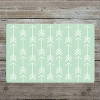 Mint Arrow Pattern Rug