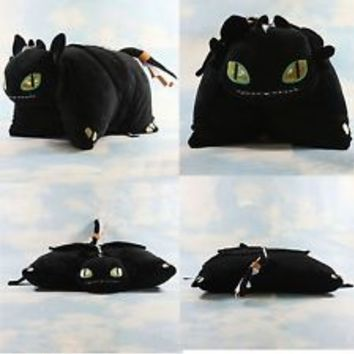 How to Train Your Dragon NIGHT FURY TOOTHLESS PILLOW Pets Soft Plush