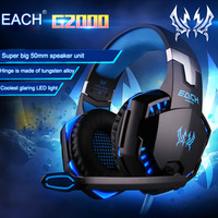 TK KOTION EACH G2000 Gaming Headset Luminous Headphones Earphones with Microphone for Mobile Phones PS4 PC Laptop Video Games