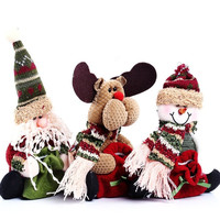 2015 3 Styles Reindeer Snowman Santa Claus Ornament Natal Cute Christmas Stocking New Year Christams Decoration = 1946251716
