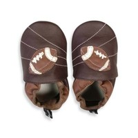 Tommy Tickle Soft Sole Leather Football Baby Shoe in Brown