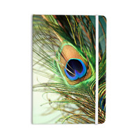 "Sylvia Cook ""Teal Peacock Feather"" Everything Notebook"