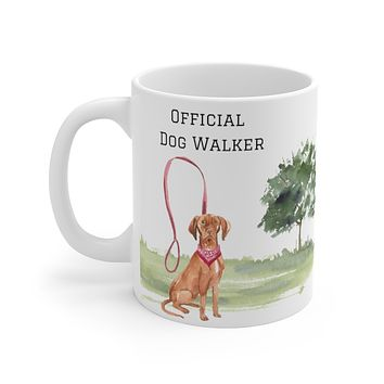 Official Dog Walker Mug — Vizsla