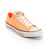 Converse Chuck Taylor All Star Washed Neon Orange Shoe at Zumiez : PDP