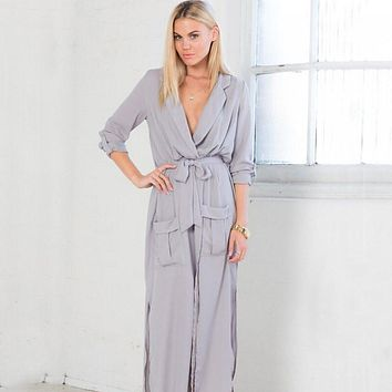 Spring Autumn Women's Long Loose Trench Coat Long Sleeve Slim Thin Trench Coats for Women With Waist Belt WT669-S