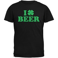 St. Patricks Day - I Shamrock Love Beer Irish Black Adult T-Shirt