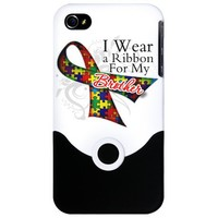 For My Brother - Autism iPhone 4 Slider Case on CafePress.com