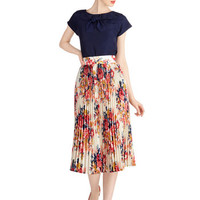 ModCloth Long A-line Out of This Whirl Skirt