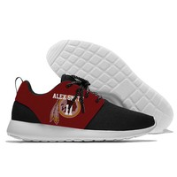 lace-up Running Shoes redskins Player number Sport Shoes confortable Jogging Walking Athletic Shoes light weight