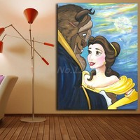 Beauty And The Beast Tale As Old As Time Wall Art Canvas Posters Prints Painting Wall Pictures For Office Living Room Home Decor