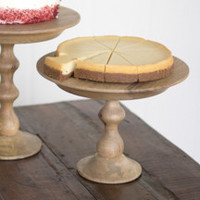 Wooden Cake Stand- 12D x 9T