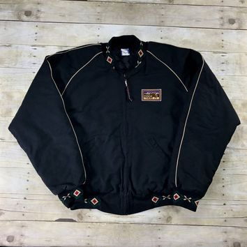 Vintage 90s Mule Days Black Western Cotton Canvas Jacket Made in USA Mens Size XL
