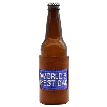 World's Best Dad Needlepoint Bottle Cooler by Smathers & Branson