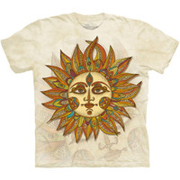 HELIOS Sun Face The Mountain Greek Mythology God Titan Spiritual T-Shirt S-3XL
