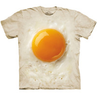 FRIED EGG Yolk The Mountain Funny Giant Breakfast Big Food Costume T-Shirt S-3XL