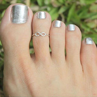 Simple Retro Design Toe Ring Adjustable Foot Jewelry Gifts For Women Mujer Girls Rings CF