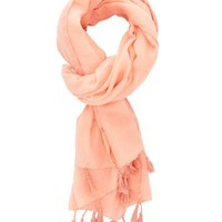 Tassel-Trimmed Wrap Scarf by Charlotte Russe