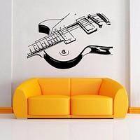 Guitar Decal Wall Art - Guitar Mural Art