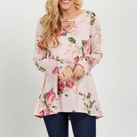 Light-Pink-Floral-Cutout-Front-Top