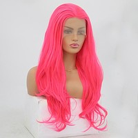VIP - Synthetic Lace Front Wig Neon Pink