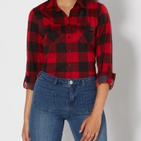 Red Buffalo Check Button Down | Plaids & Flannels | rue21