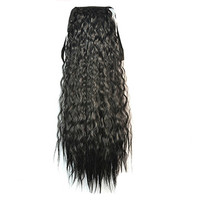 Wig Corn Perm Lace-up Horsetail black