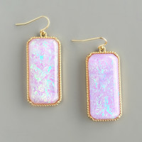 Lavender Iridescent Earrings