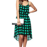 Country Green High Low Dress