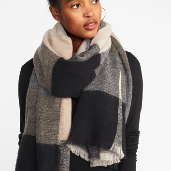 Flannel Blanket Scarf for Women   Old Navy