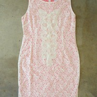 See the Peonies Ivory Lace Dress