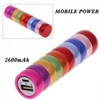 Rainbow 2600mAh Carpenterworm Mobile External Power Battery Charger for All Smartphones and Digital Devices