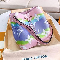 Louis Vuitton LV Hot Sale Women Leather Bucket Bag Shoulder Bag Crossbody Satchel