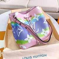 LV Louis Vuitton Hot Sale Women Leather Bucket Bag Shoulder Bag Crossbody Satchel