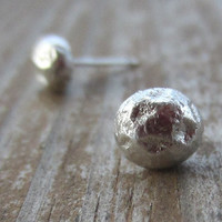 Round Silver Studs, Recycled Silver, Small Silver Stud Earrings