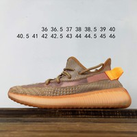 Kuyou Fa1972 Adidas Yeezy 350 Boost V2 Clay Brown Sneakers