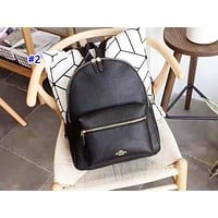 Coach fashion printed patchwork backpacks are hot sellers of casual backpacks for men and women #2